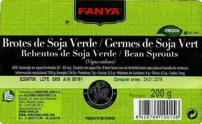 Brotes de soja tallos verdes - Ingredientes - es