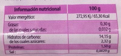 Germinados de cebolla - Información nutricional - es