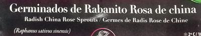 Germinados de Rabanito Rosa de China - Ingredientes