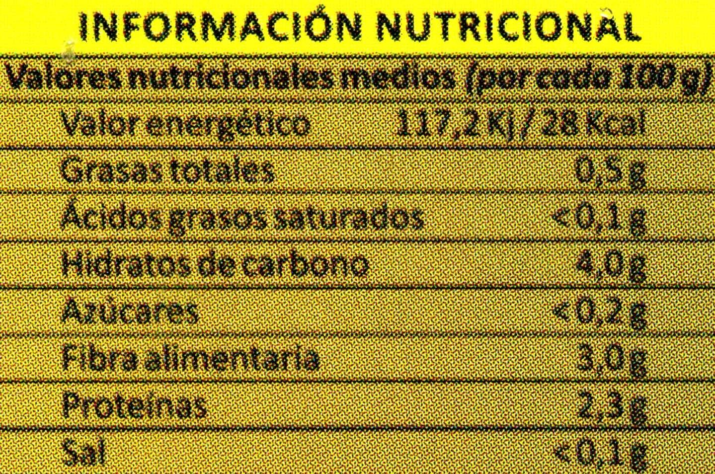 Setas trompeta negra - Informations nutritionnelles - es