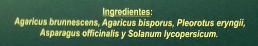 Variado de Setas para preparar con Verdura - Ingrédients - es