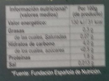 Variado de setas para preparar con huevo - Informations nutritionnelles - es