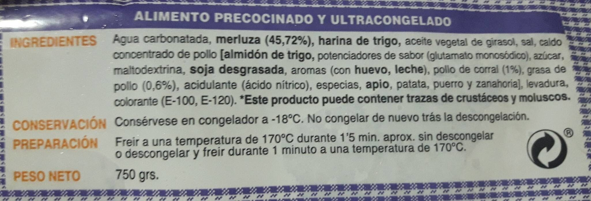 Pavias de merluza - Informations nutritionnelles - es