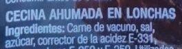 Cecina Del Bierzo - Ingredients