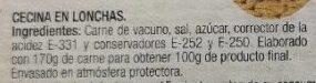 Cecina - Ingredients