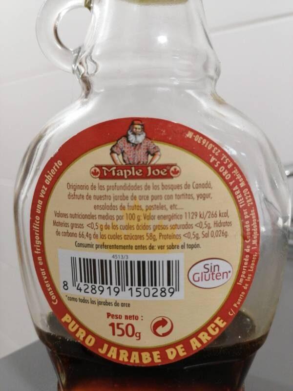 Jarabe de arce - Ingrediënten
