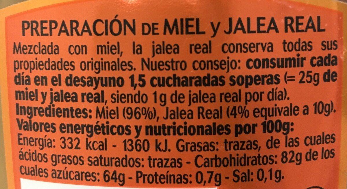 Miel con Jalea Real - Ingrédients - es