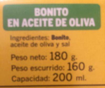 Thon bonito - Ingrediënten