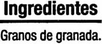 """Granos de granada congelados """"Auchan"""" - Ingredients - es"""