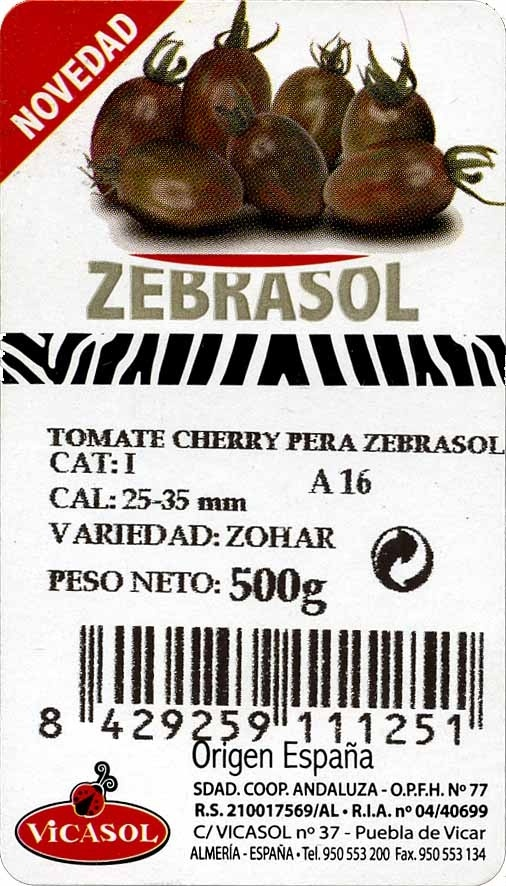 Tomates cherry - Ingrédients - es