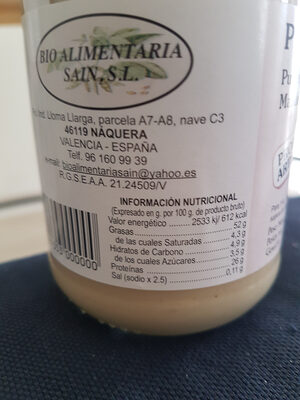 Puré de almendras - Nutrition facts - de