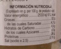 Puré de almendras - Información nutricional - es
