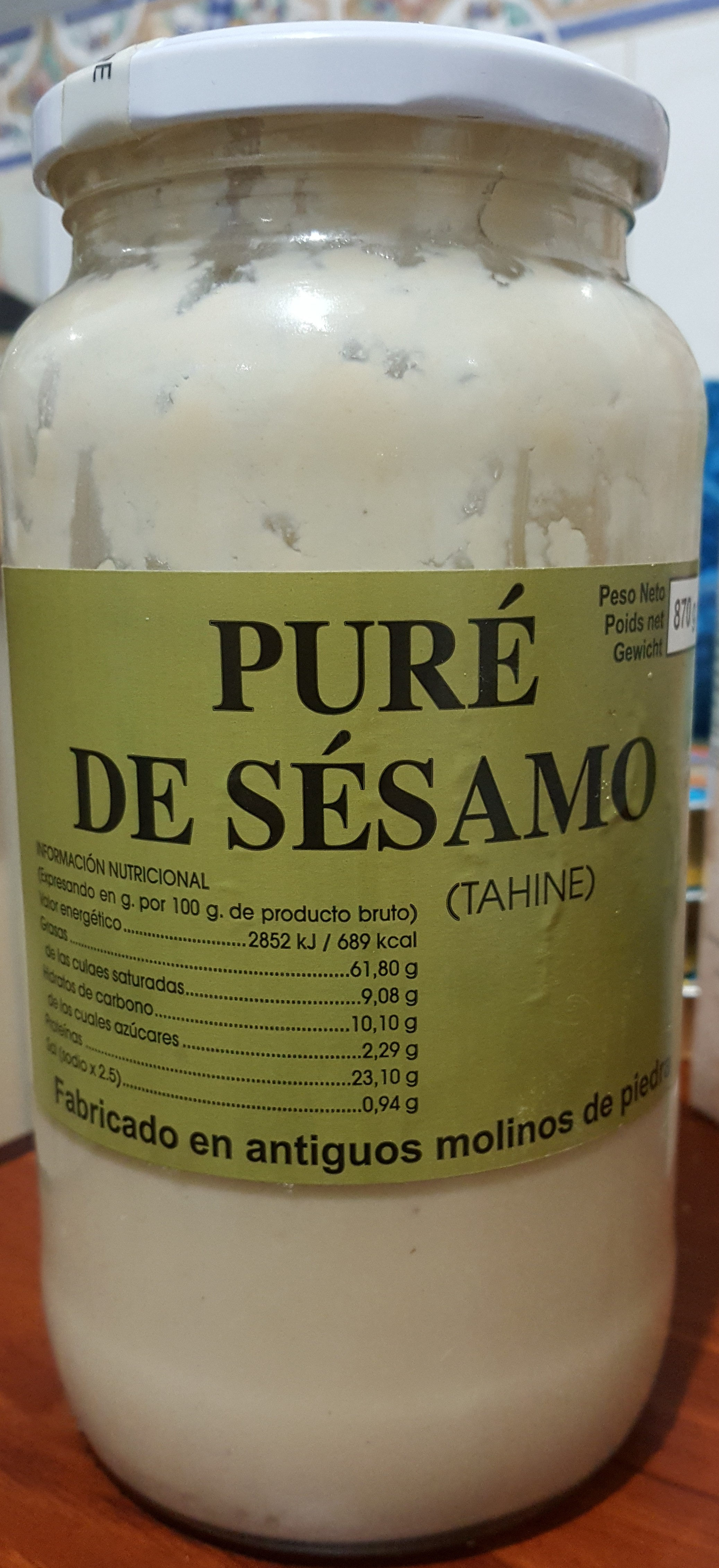 Puré de Sésamo (Tahine) - Product