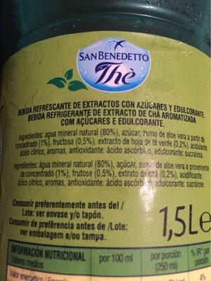 Té Verde con Áloe Vera - Ingrédients - fr