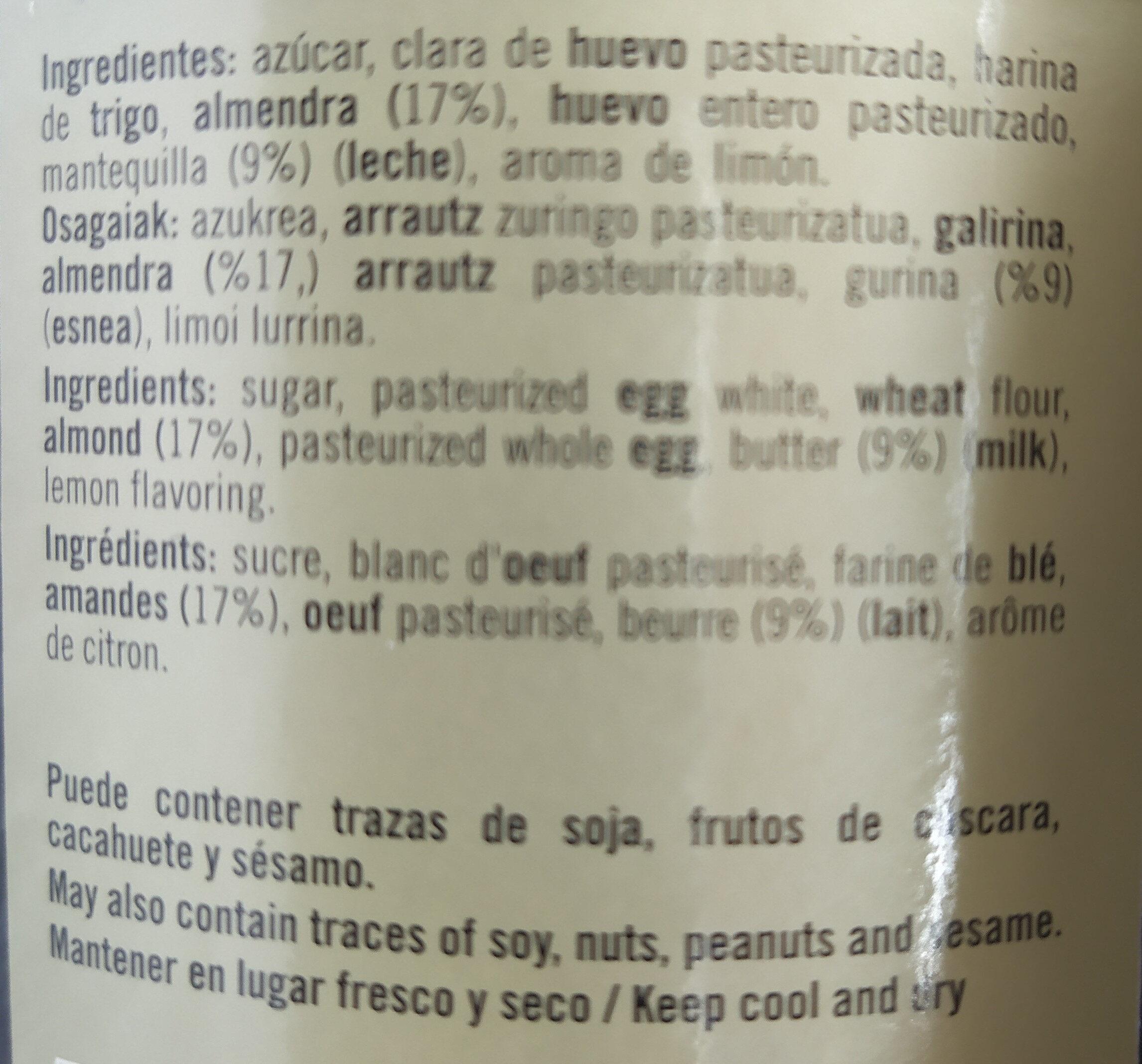 Tejas y cigarillos de Tolosa - Ingredients - fr