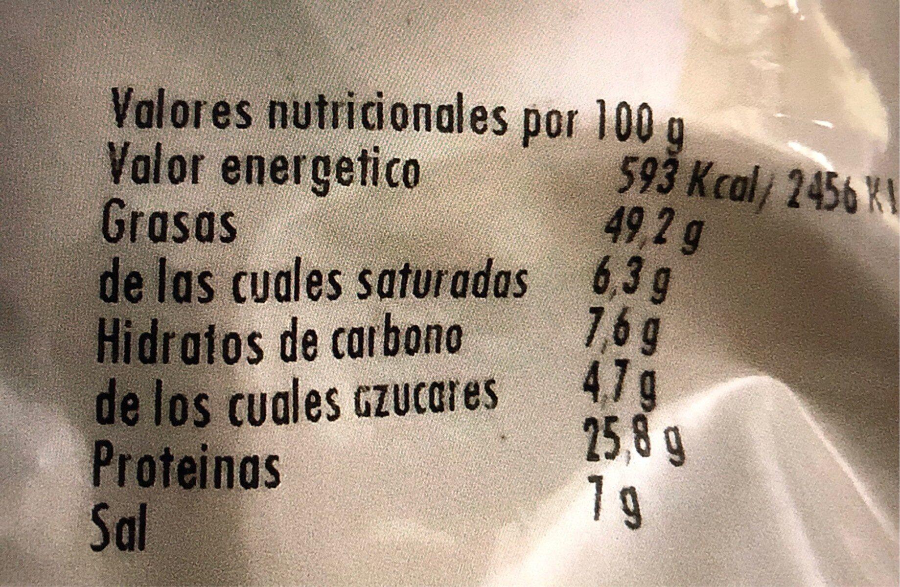 Cacahuetes - Ingredientes