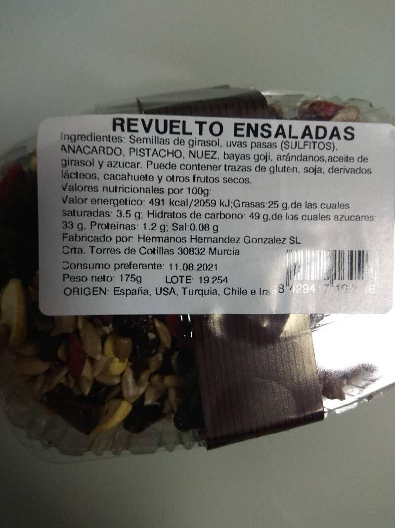 Revuelto Ensaladas Delicias - Nutrition facts