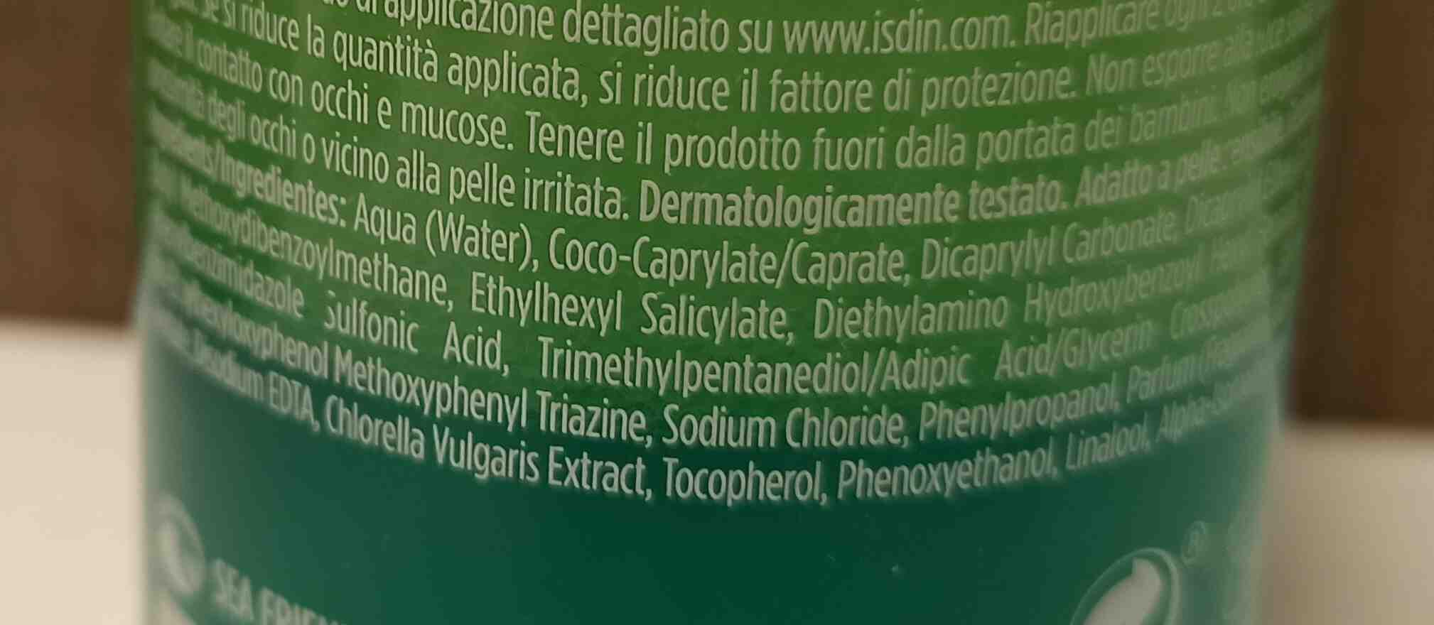 isdin hydro lotion - Ingredienti - en
