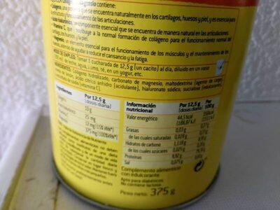Colágeno + Magnesio - Nutrition facts