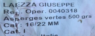 Asperges Vertes - Ingrédients - fr