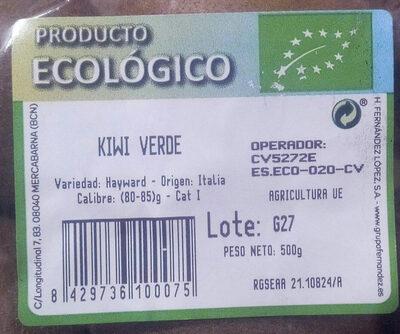Kiwi verde - Ingredientes