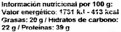 Soja blanca - Informació nutricional - es