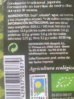 Mugi miso pasteurizado - Informations nutritionnelles - es