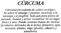 Cúrcuma molida - Ingredients