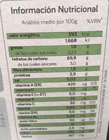 Papilla de inicio para biberon - Nutrition facts - es