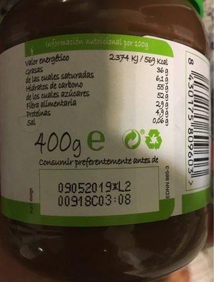 Crema al cacao - Informació nutricional