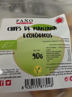 Chips de manzana ecológicos