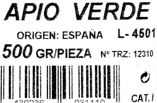 Apio - Ingrédients - es