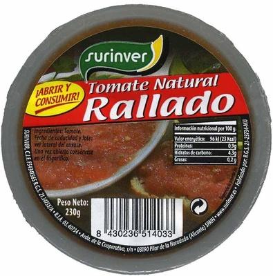 "Tomate natural rallado ""Surinver"" - Producto"