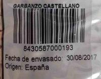 Garbanzo castellano - Ingredientes - es