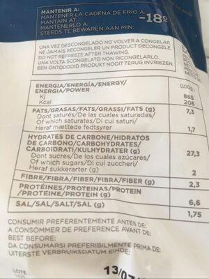 Beignets calmar à la romaine - Informations nutritionnelles - fr