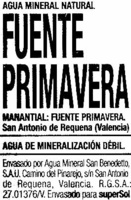 Agua mineral natural - Ingredientes - es