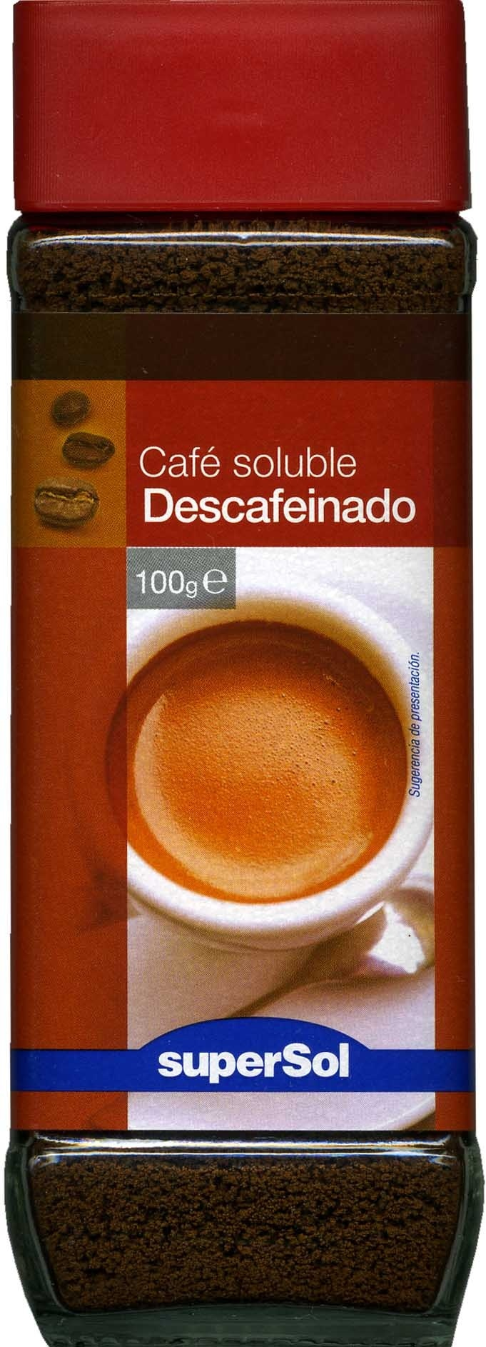 Café soluble descafeinado - Producte