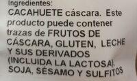 Cacahuete con cáscara - Ingrédients - es