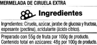 Mermelada de ciruela - Ingredientes