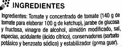 "Salsa kétchup ""SuperSol"" - Ingredients"