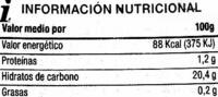 """Salsa kétchup """"SuperSol"""" - Informació nutricional"""
