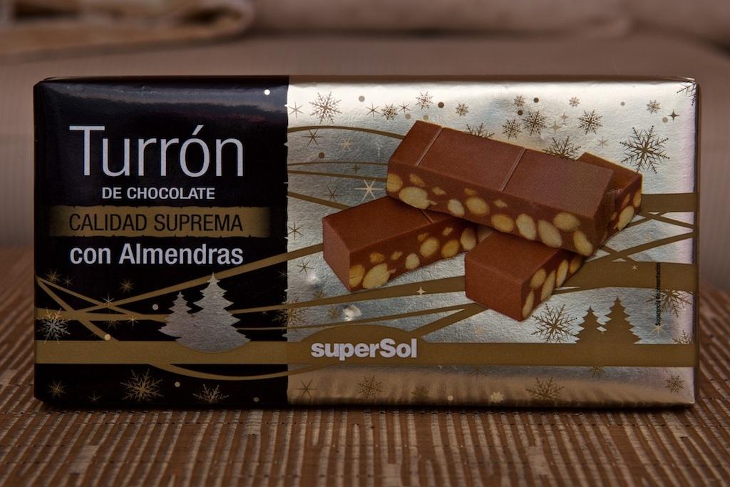 Turrón de Chocolate con Almendras - Producto