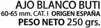 "Ajos ""SuperSol"" Blanco - Ingredients"