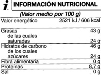 Tableta de chocolate negro 70% cacao - Voedigswaarden