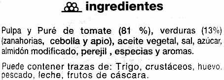 "Salsa napolitana ""SuperSol"" - Ingredientes"