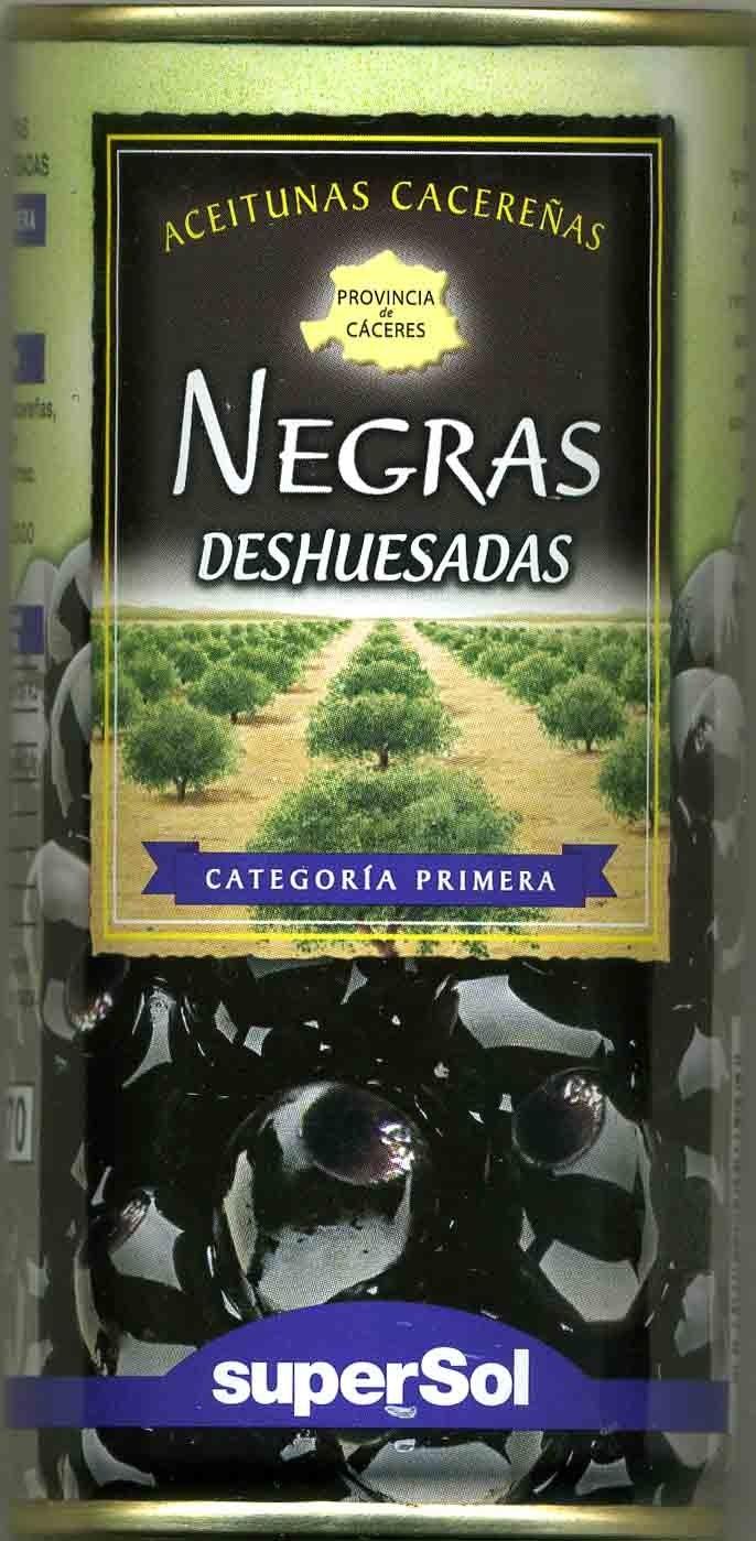 Aceitunas negras cacereñas deshuesadas - Produit - es
