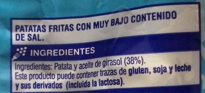Patatas fritas sin sal añadida - Ingredientes - es
