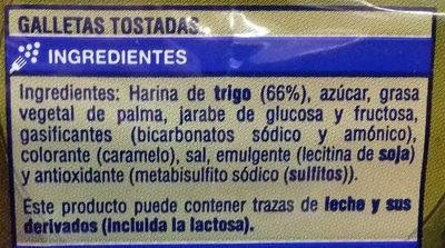 Galletas Tostadas - Ingrediënten