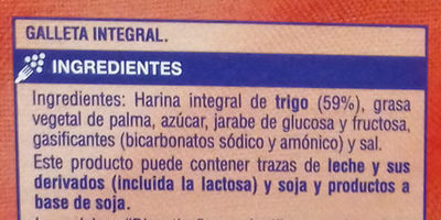 Galletas Digestive Supersol - Inhaltsstoffe - es