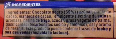 Aros con Chocolate Negro - Ingredients - es